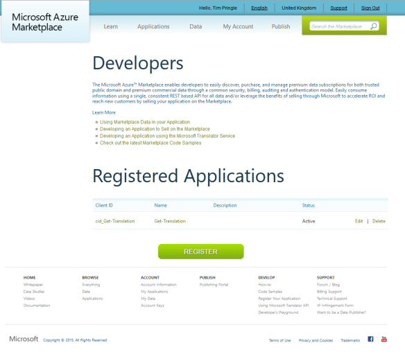 RegistedApplications